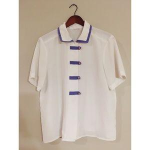 Vintage Button Detail Collar Shirt